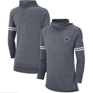 NIKE Dallas Cowboys Dry Fit Tri Blend Funnel Shirt